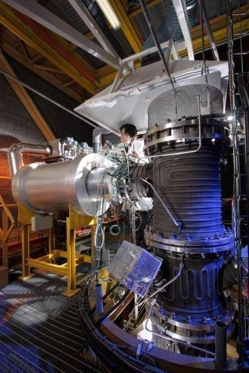L'installation Pégase du centre CEA de Grenoble permet d'étudier les procédés de purification des gaz de synthèse. © P. Avavian, CEA