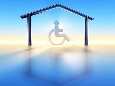 Maison et handicap. © danimages