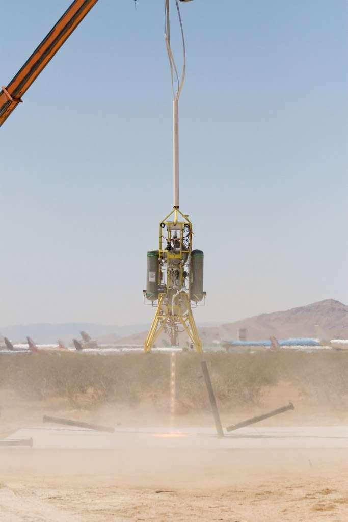 Prototype d'engin à décollage et atterrissage verticaux. Crédit Maeste Space Systems