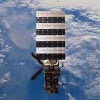 Vue d'artiste de MetOp en orbite