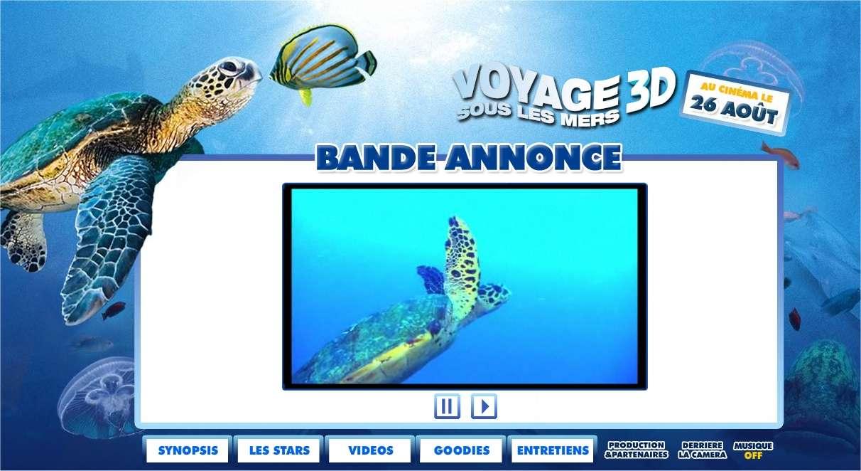 Voyage sous les mers 3D, raconté ici sur le site Web qui lui est consacré, nous fait rencontrer les beautés fragiles des mers du monde.