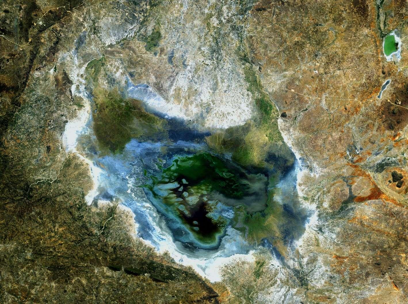 Le satellite Alos a pris cette image de la région du lac Sulunga en Tanzanie. © Jaxa/Esa