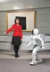 Le robot Asimo de Honda (crédit : 2002 Honda Motor Co.)