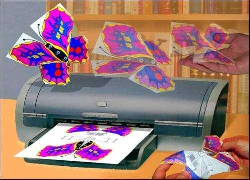Les imprimantes du futur pourraient produire un papillon, semblable à un origami, capable de voler grâce à ses propres batteries et d'exécuter des tâches physiques élémentaires.