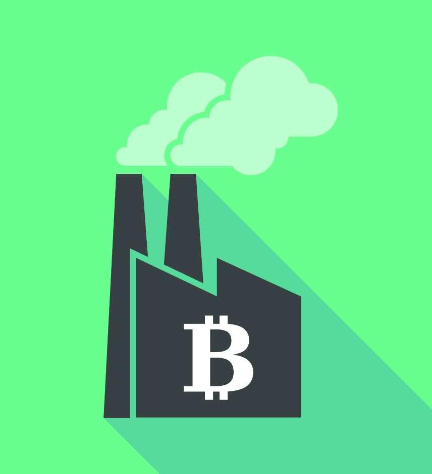 La fabrication de Bitcoins a généré 17,29 millions de tonnes d'équivalent CO2 en 2018. © jpgon, Adobe Stock