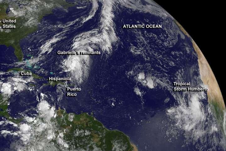Humberto pourrait bien devenir le premier cyclone de la saison en Atlantique Nord. © Nasa