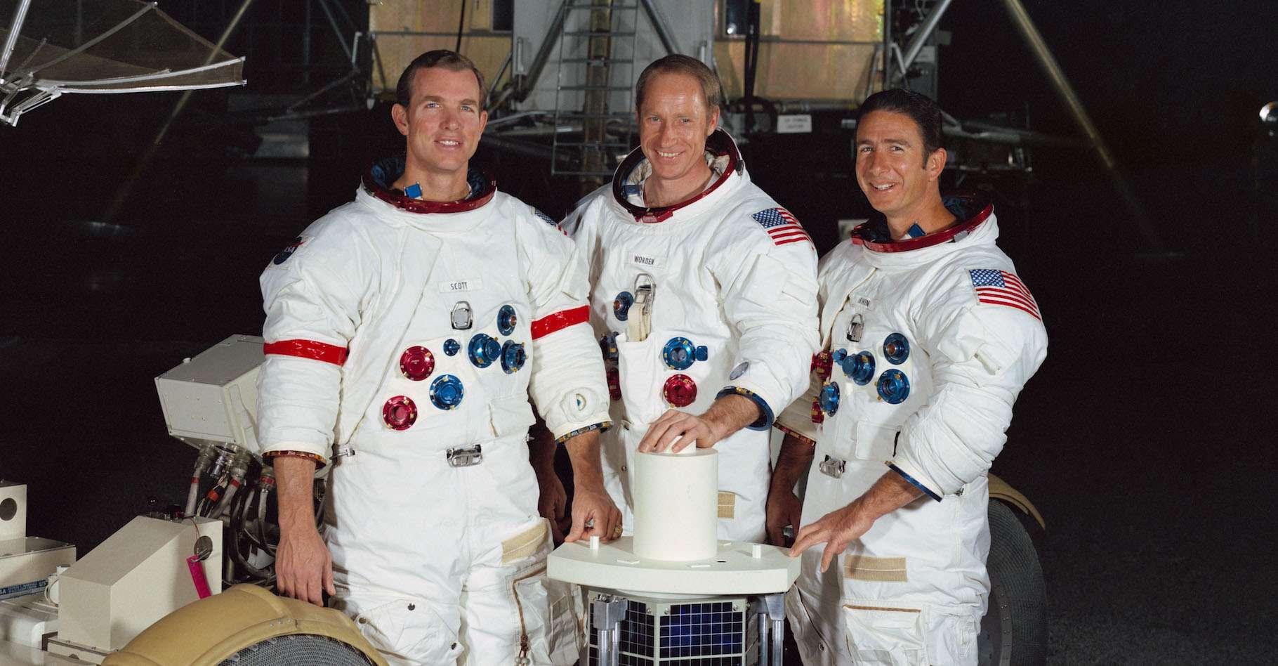 Al Worden, ici au centre, est décédé ce mercredi 18 mars 2020. Il était de l'équipage d'Apollo 15. © fotoo, Adobe Stock