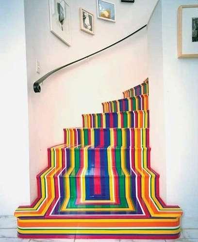 Vous pouvez également poser du vinyle sur vos murs ou même les escaliers pour une décoration originale. © Ooh food, Flickr, cc by nc 2.0