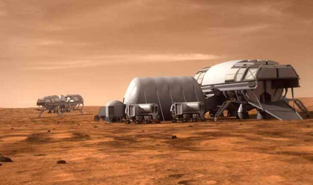 Après la Station spatiale internationale, l'envoi d'une mission habitée sur Mars pourrait devenir le prochain grand programme spatial d'envergure internationale et aux enjeux politiques majeurs. © Nasa