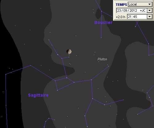 La Lune en rapprochement avec Pluton
