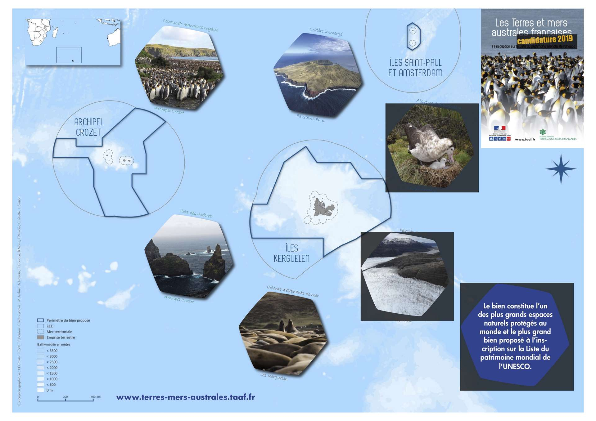 Les Terres et mers australes françaises constituent le plus grand bien inscrit au patrimoine mondial de l'Unesco. © TAAF