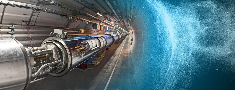 Avec le LHC, les physiciens n'explorent pas que les mystères de l'infiniment petit mais aussi ceux de l'infiniment grand. En effet, le Grand Collisionneur de Hadrons découvrira peut-être des particules de matière noire. © Cern