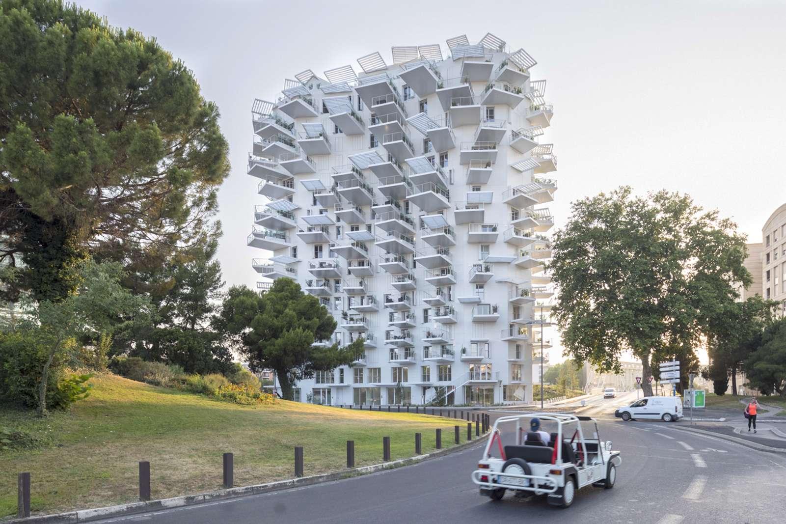 L'Arbre Blanc, à Montpellier, a été désigné comme plus bel immeuble d'habitation par le site Archdaily. © lartvues, Instagram