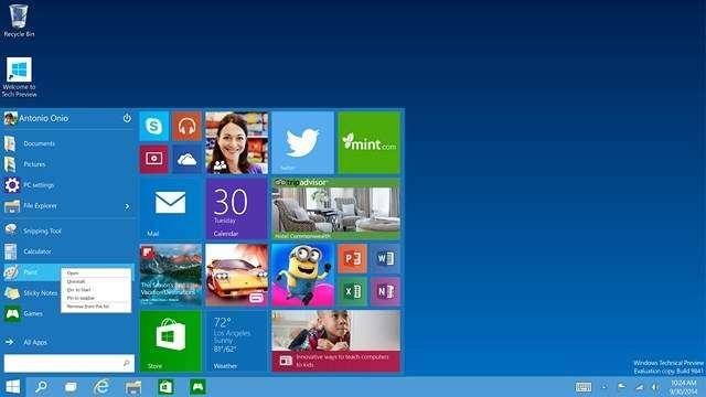 Ce montage résume l'ambition de Windows 10 : un système d'exploitation (one platform) capable de s'adapter à tous les types de terminaux existants, qu'ils soient tactiles ou pas, mobiles ou de grand format (one product family) en offrant pour chacun d'eux une interface personnalisée. Les applications Windows, quels que soient leur format et leur destination (professionnel ou loisir), seront toutes réunies dans un seul magasin en ligne (one store). © Microsoft