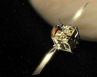Vénus express, une image d'artiste. Crédit: ESA (Image AOES Medialab)