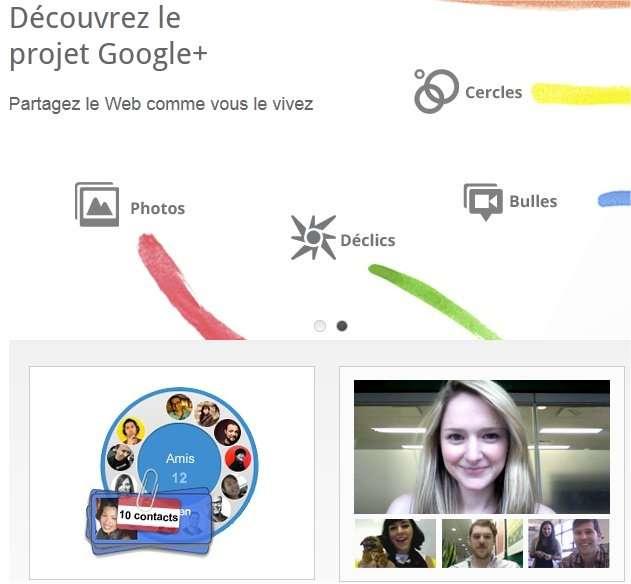 Sur Google+ (ici la page de présentation), on avance à visage découvert... © Google+