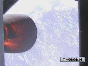 L'ascension de Falcon 1, alors à 160 km d'altitude, vue par la caméra embarquée du deuxième étage.