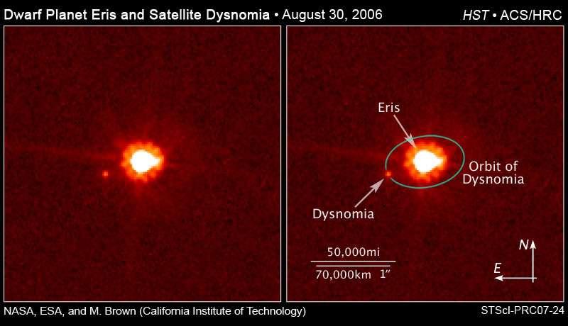 Pluton perd son rang de planète naine la plus massive