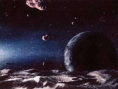 Représentation d'artiste de la ceinture de Kuiper