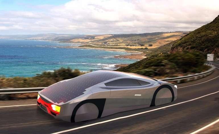 Voici une idée de ce à quoi pourrait ressembler l'Immortus, la première voiture de série à énergie solaire. © EVX