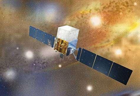 Vue d'artiste du Fermi Gamma-Ray Space Telescope. Crédit Nasa