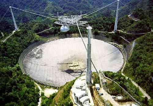 Le radiotélescope d'Arecibo. Crédit : University of Texas Austin