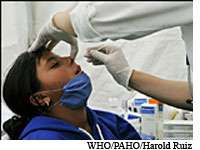 La grippe A(H1N1) attend toujours son vaccin. © WHO/PAHO/Harold Ruiz