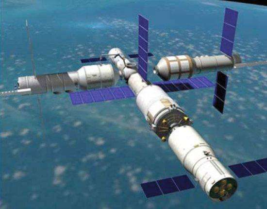 Tiangong-3, que les experts occidentaux comparent à un Saliout russe, constituerait le bloc de base de la future station spatiale chinoise. © CNSA