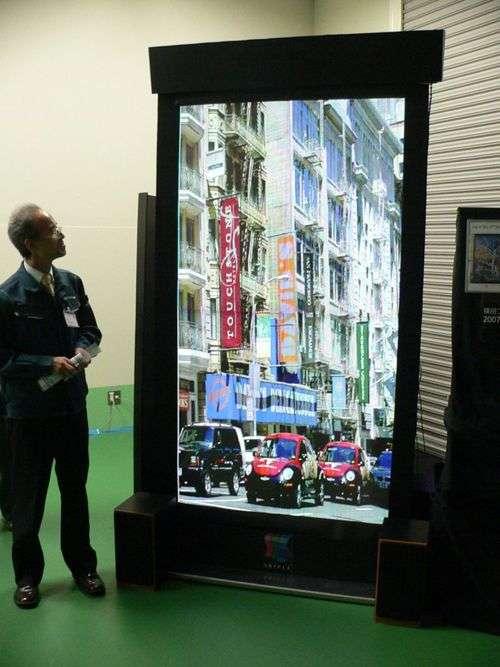L'écran plat de 86 pouces présenté au Ceatec. Crédit Shinoda Plasma Corp.