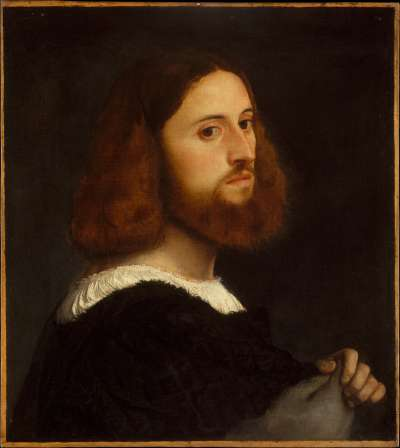 Les cheveux et poils de ces messieurs ne repoussent pas plus vite et plus dru lorsqu'ils les taillent. © Portrait d'un homme, 1512, huile sur toile, Wikimedia Commons