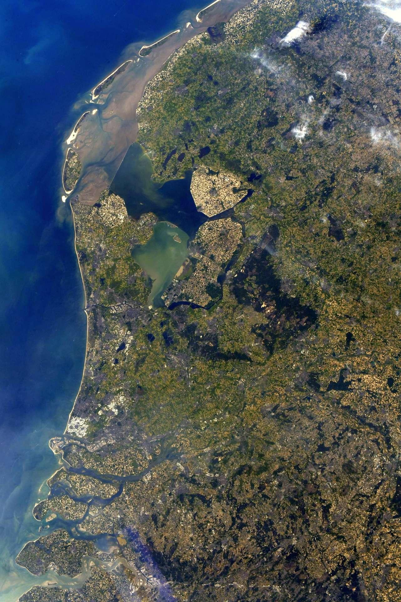 Un bout de territoire néerlandais, photographié par Thomas Pesquet en 2021. © ESA/Nasa, T. Pesquet