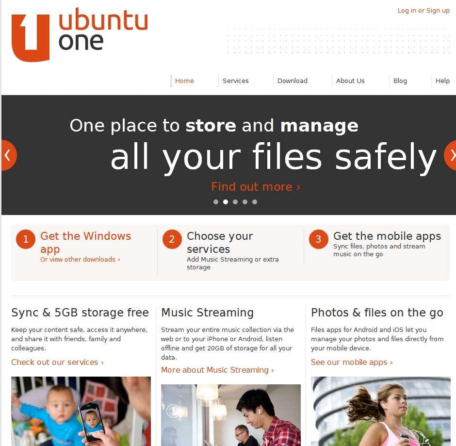 Ubuntu One est un espace privatif en ligne qui permet de synchroniser les données de l'utilisateur. Canonical, l'éditeur d'Ubuntu, offre ainsi 5 Go d'espace de stockage. © FS/EP/S. Biget