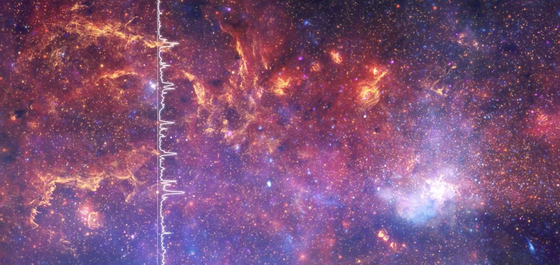 La Nasa a créé des « musiques » à partir du code numérique enregistré par des télescopes. © Nasa, CXC, SAO, STScI ; IR: Spitzer Nasa, JPL-Caltech