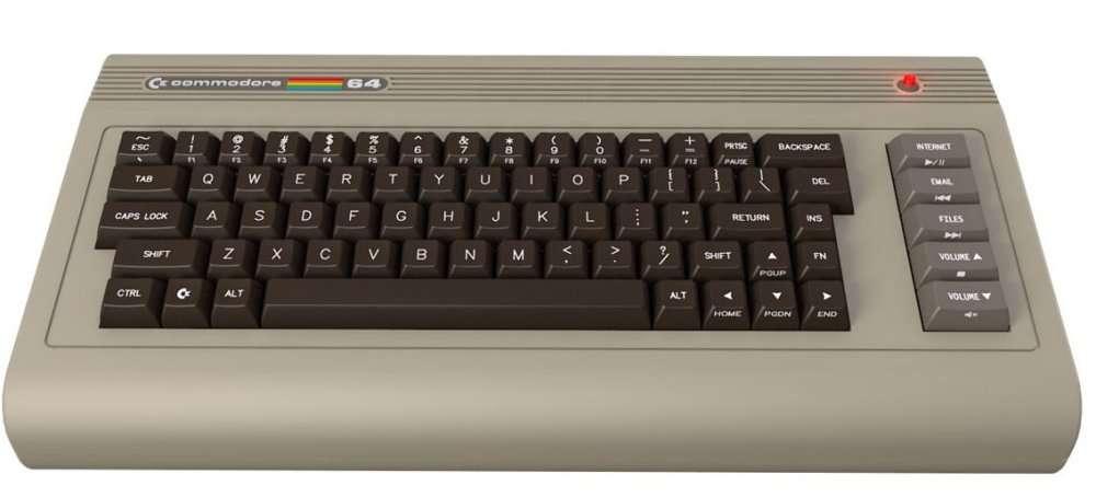 Le C64x, une allure très marquée années 1980. Pour les nostalgiques et les originaux. © Commodore