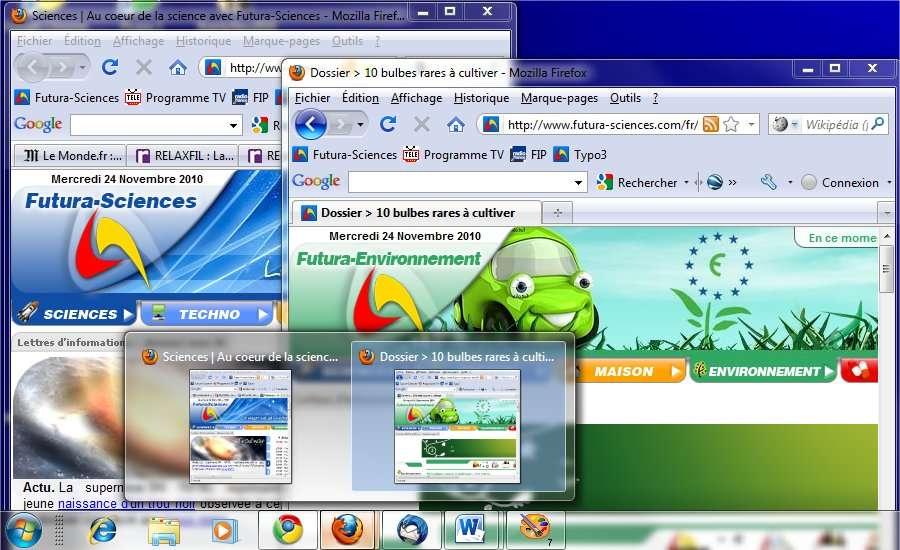 Windows 7. Après l'accueil glacial qu'a subi Vista, Windows 7 est reçu plus chaleureusement. Il n'entraîne pas l'enthousiasme mais apporte quelques fonctions bienvenues... Mais pas de révolution : 25 ans plus tard, les fenêtres sont toujours là. Le changement conceptuel des interfaces viendra-t-il des smartphones ? © Futura-Sciences