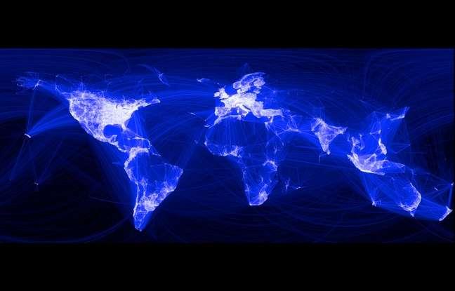 Les connexions Facebook couvrent déjà un large territoire. Avec son projet Internet.org, Mark Zuckerberg ambitionne d'offrir un accès Internet gratuit aux deux tiers de la population mondiale qui n'y ont toujours pas accès. De quoi multiplier le nombre d'usagers. © Facebook