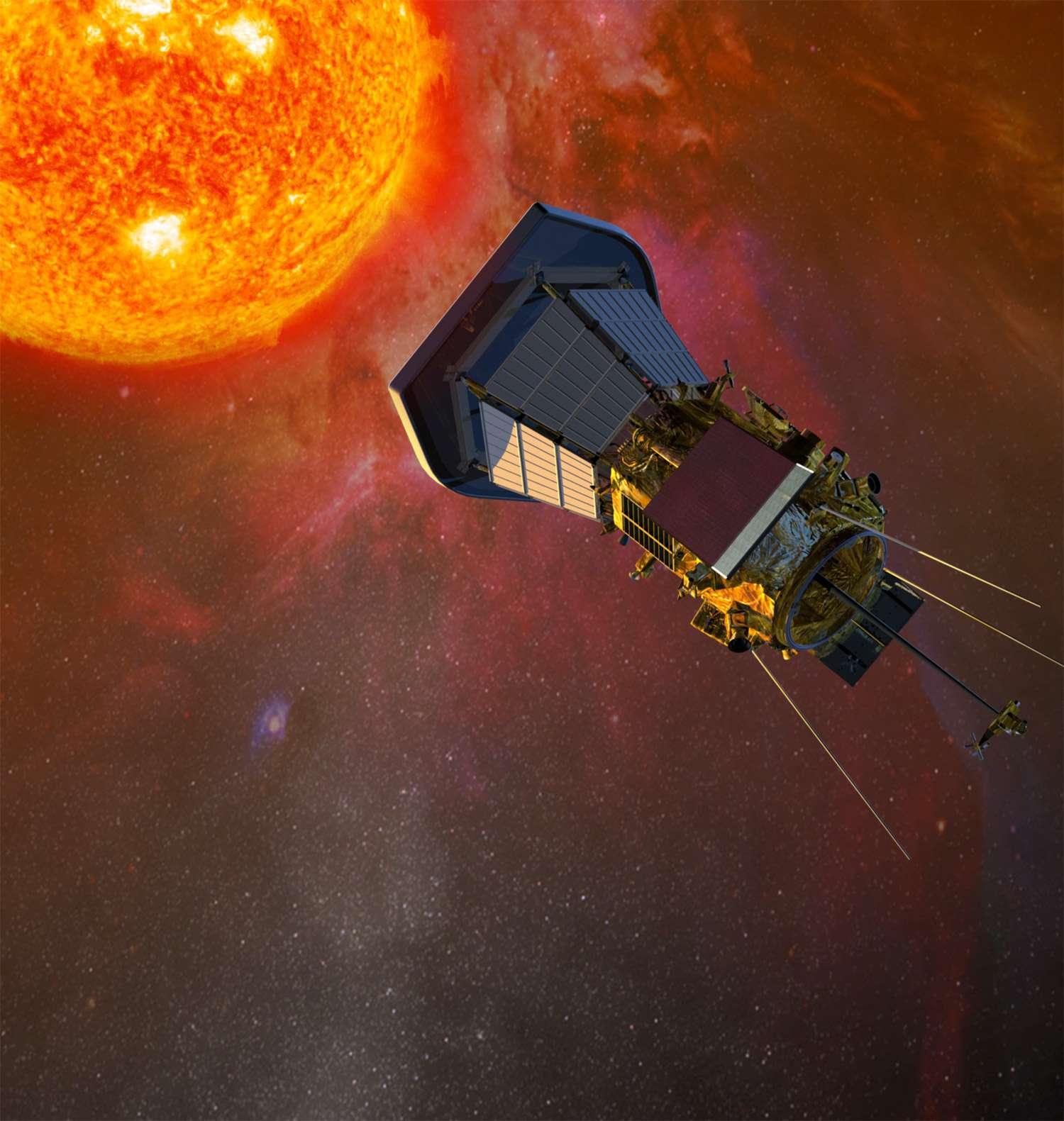 Située à moins de 7 millions de kilomètres du Soleil, l'orbite de Solar Probe Plus s'apparente à un promontoire exceptionnel pour l'observer et mieux le comprendre. Crédit Nasa