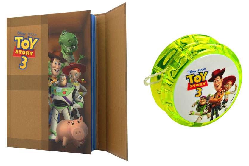 "Notebook et yoyo ""Toy Story 3"", crédits DISNEY"