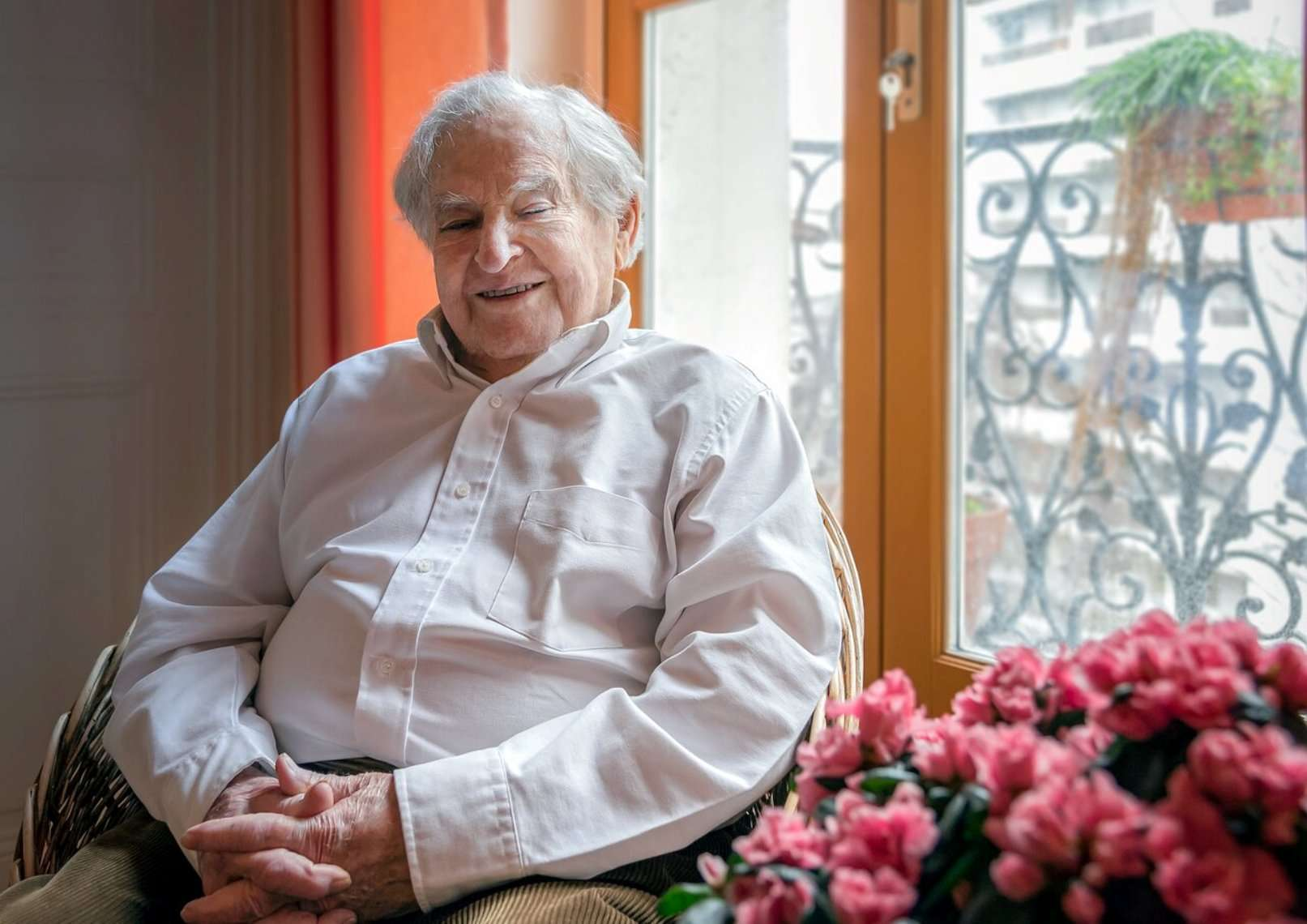Une des dernières photos de Jean-Claude Pecker. © IAU, C. Madsen