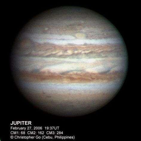 Jupiter et ses deux taches rouges...
