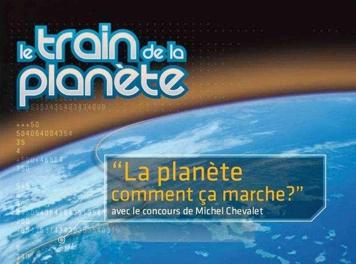 L'affiche de l'exposition itinérante, le Train de la Planète. Crédit : www.traindelaplanete.com