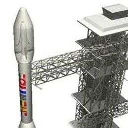 USV X sous la coiffe d'un lanceur Vega (vue d'artiste).