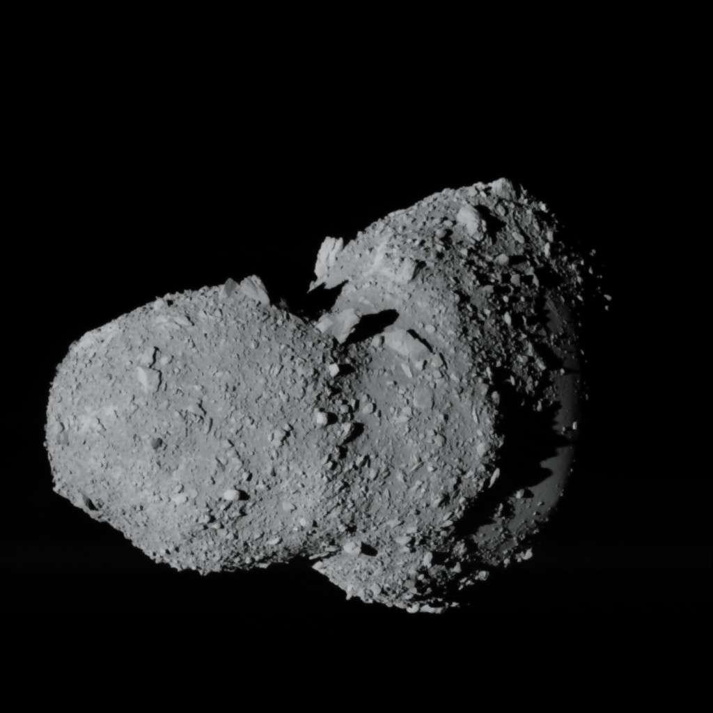 La mission japonaise Hayabusa sur Itokawa confirme l'intérêt croissant que les chercheurs portent aux astéroïdes, peut-être à l'origine de la vie sur Terre. Crédit Jaxa