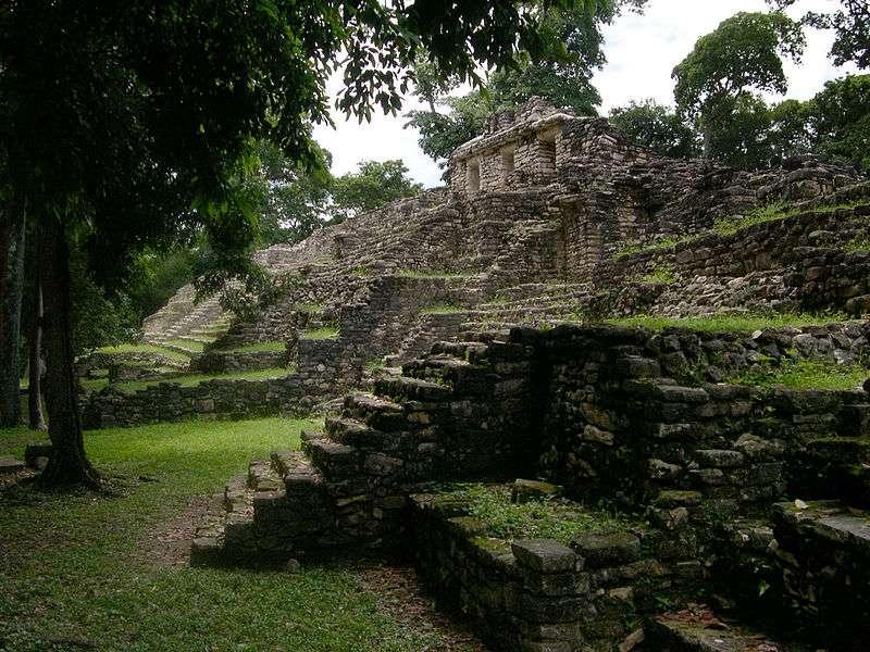 S'il est difficile d'envisager des pyramides en Amazonie, comme à l'image l'une des pyramides maya du Yaxchilan, des preuves archéologiques suggèrent l'existence de routes et de villes précolombiennes. © Jacob Rus, Wikipédia, cc by sa 2.0