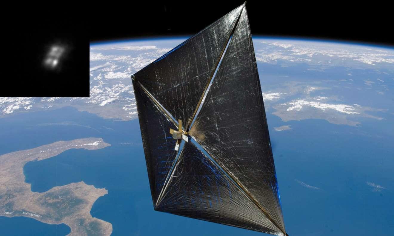 Après avoir passé 240 jours en orbite, la voile solaire NanoSail-D a effectué une rentrée atmosphérique naturelle le 17 septembre. © Nasa