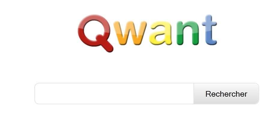 La page d'accueil de Qwant. Avec sa page blanche et ses couleurs, elle évoque furieusement un autre moteur de recherche, assez connu. © Qwant