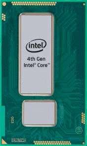 Avec sa puce Haswell, Intel affirme que les performances augmentent de 11 % par rapport au modèle précédent, le Ivy Bridge, tout en consommant 25 % d'énergie en moins. En pratique, selon le site Extremetech qui a pu réaliser un test du nouveau processeur Core i7-4770K, les performances augmenteraient en fait de 6 à 10 % et les économies d'énergie sont effectivement flagrantes. © Intel