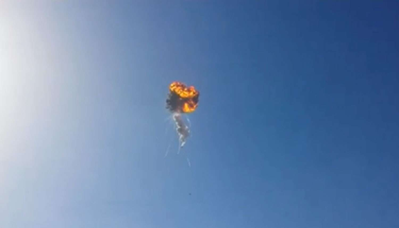Capture d'écran de l'explosion du démonstrateur d'étage réutilisable de SpaceX. © KWTX-TV