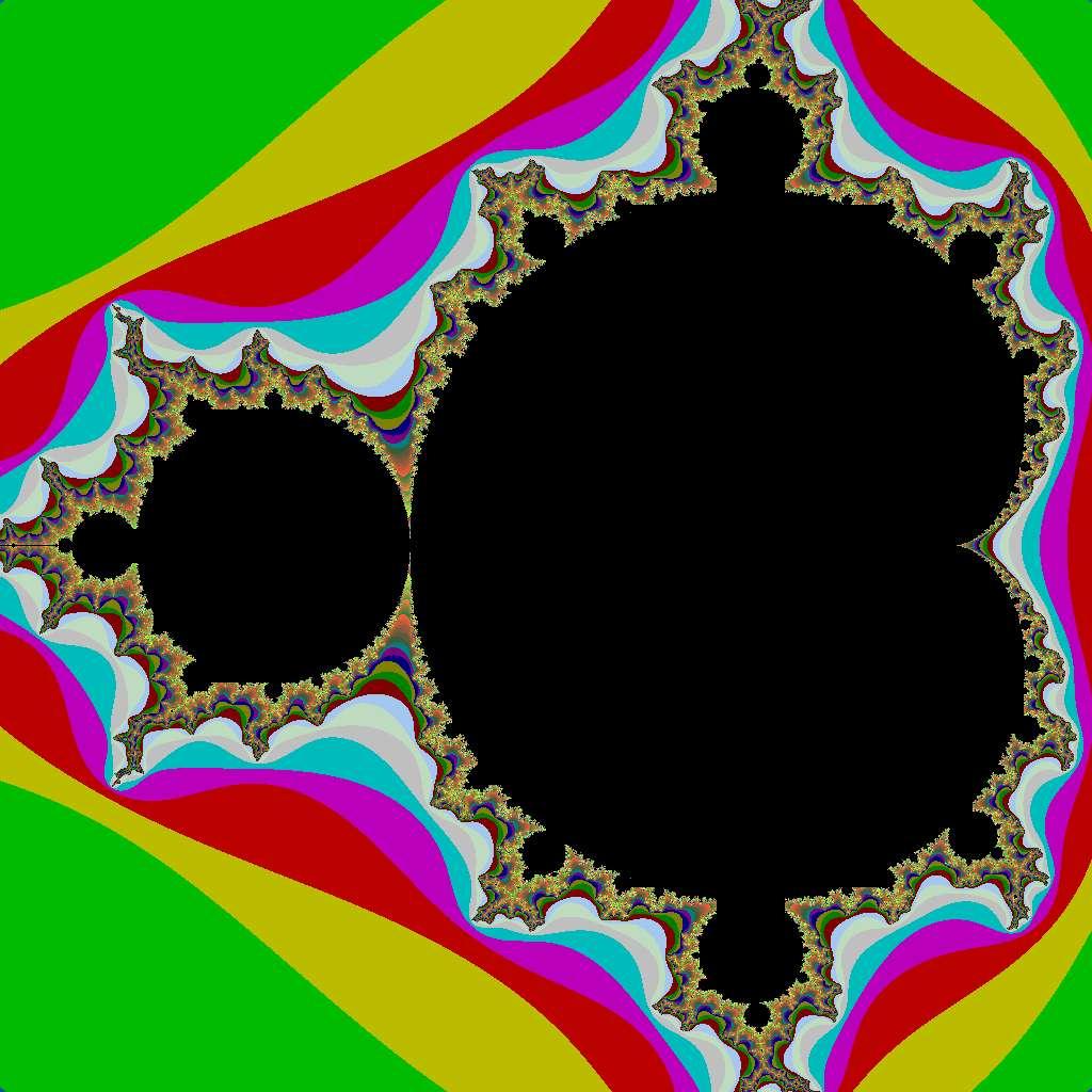 L'ensemble de Mandelbrot exhibe une structure qui se répète à toutes les échelles. C'est une propriété caractéristique des fractales. Crédit : Princeton University