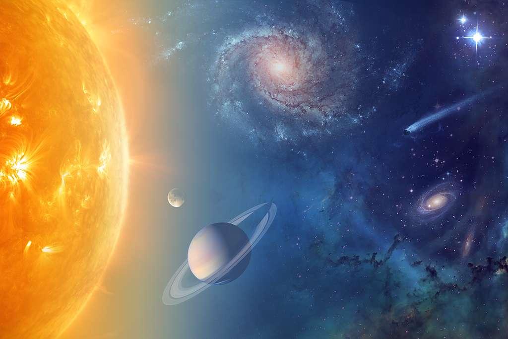 L'eau est partout dans notre Système solaire et au-delà, autour d'autres étoiles, dans les nuages moléculaires d'autres galaxies, etc. © Nasa